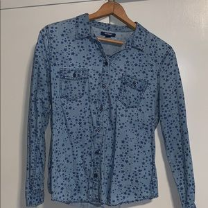 Old navy denim stars shirt size large